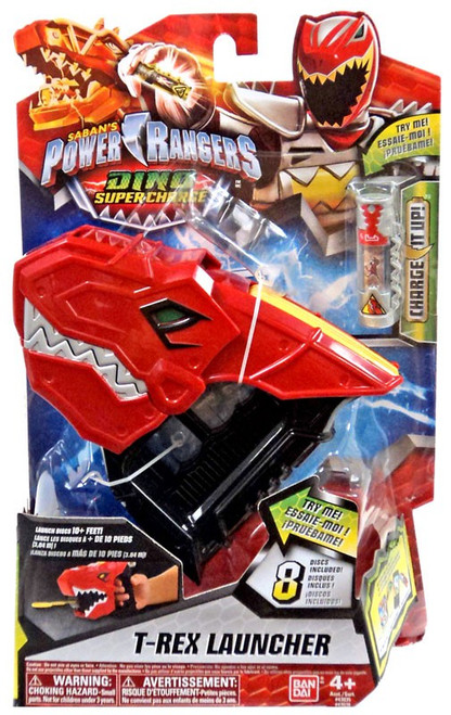 Power Rangers Dino Super Charge T-Rex Launcher Roleplay Toy #43038