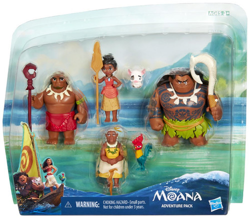 Disney Moana Moana Adventure Pack Figure 6-Pack Set