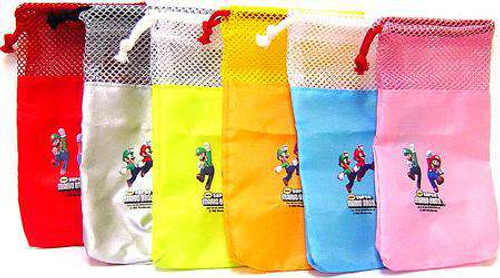 Super Mario Bros DS Set of 6 Travel Bags