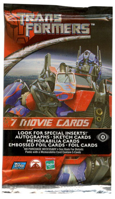 Transformers Movie Trading Card Pack