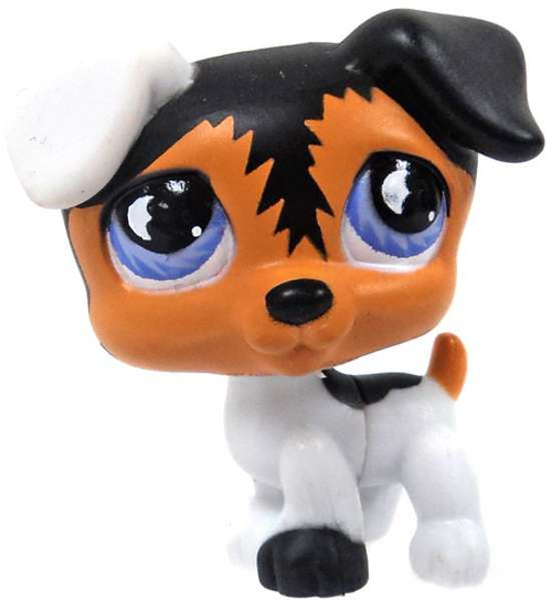 Littlest Pet Shop Dog Figure [Black, White & Brown, No Package]