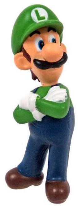 New Super Mario Bros Wii Luigi 2-Inch PVC Figure