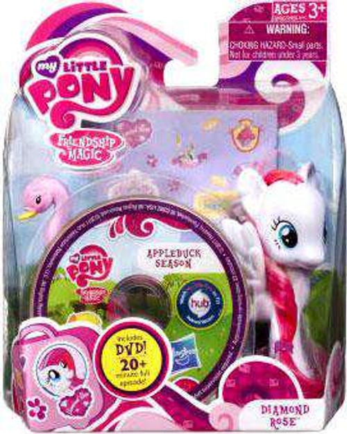 My Little Pony Friendship is Magic DVD Packs Diamond Rose Figure [Damaged Package]