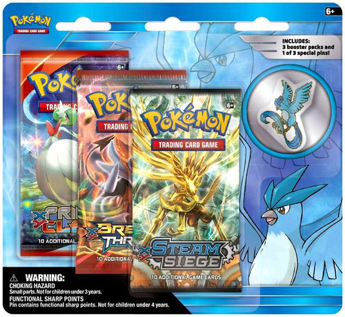 Pokemon Trading Card Game XY Articuno Pin Collection [3 Booster Packs & Pin]