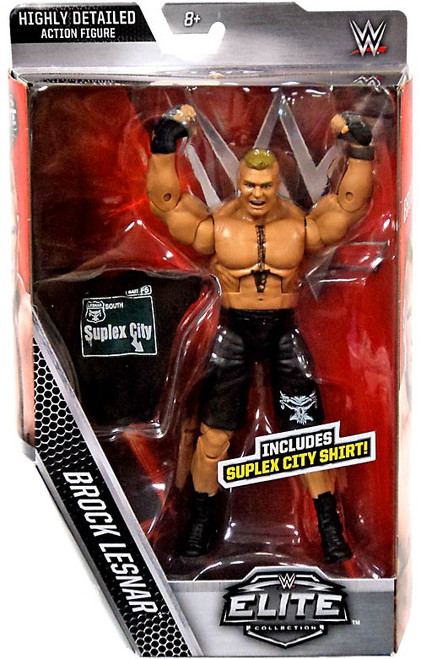 WWE Wrestling Elite Brock Lesnar Exclusive Action Figure [Suplex City Shirt]
