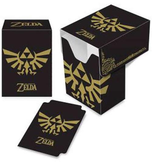 Ultra Pro Legend of Zelda Hylian Crest Deck Box [Black & Gold]