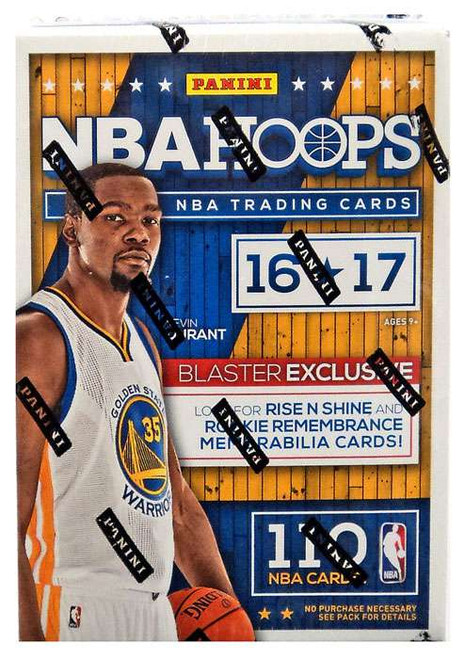 NBA Panini 2016-17 Hoops Basketball Trading Card BLASTER Box [10 Packs, 1 Autograph OR Memorabilia Card!]