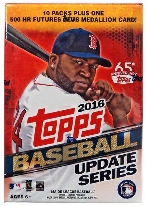 MLB Topps 2016 Update Baseball Trading Card BLASTER Box [10 Packs + 1 Medallion Card]