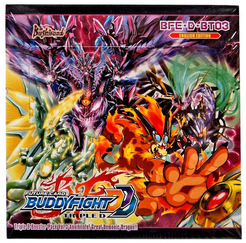 Future Card BuddyFight Triple D Special Series Vol 3 Annihilate! Great Demonic Dragon!! Booster Box BFE-D-BT03