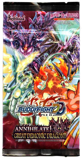 Future Card BuddyFight Triple D Special Series Vol 3 Annihilate! Great Demonic Dragon!! Booster Pack BFE-D-BT03