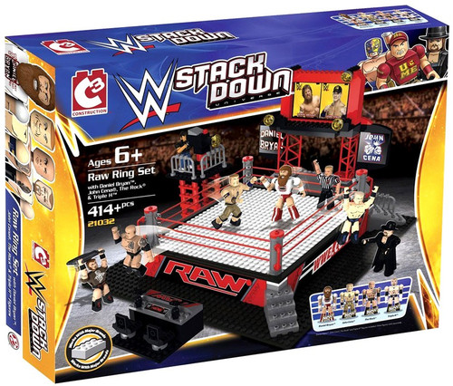 WWE Wrestling C3 Construction WWE StackDown Raw Ring Set #21032