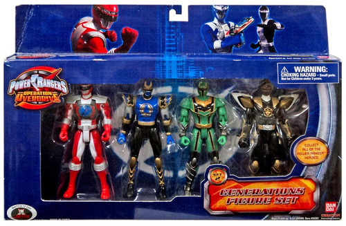Power Rangers Operation Overdrive Generations Action Figure 4-Pack