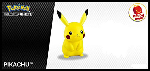 Pokemon Black & White Happy Meal Pikachu Action Figure [Loose]