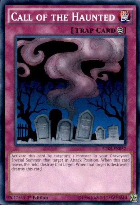 YuGiOh Seto Kaiba Structure Deck Common Call of the Haunted SDKS-EN037