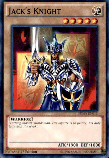 YuGiOh Yugi Muto Structure Deck Common Jack's Knight SDMY-EN013