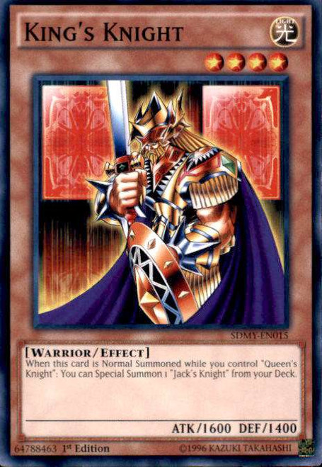 YuGiOh Yugi Muto Structure Deck Common King's Knight SDMY-EN015
