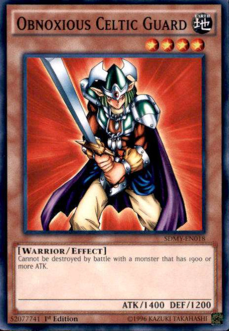 YuGiOh Yugi Muto Structure Deck Common Obnoxious Celtic Guard SDMY-EN018