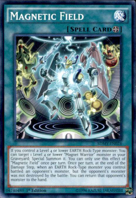 YuGiOh Yugi Muto Structure Deck Common Magnetic Field SDMY-EN024