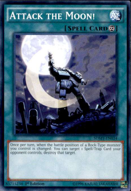 YuGiOh Yugi Muto Structure Deck Common Attack the Moon! SDMY-EN034