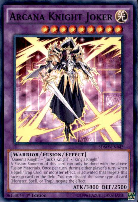 YuGiOh Yugi Muto Structure Deck Common Arcana Knight Joker SDMY-EN042