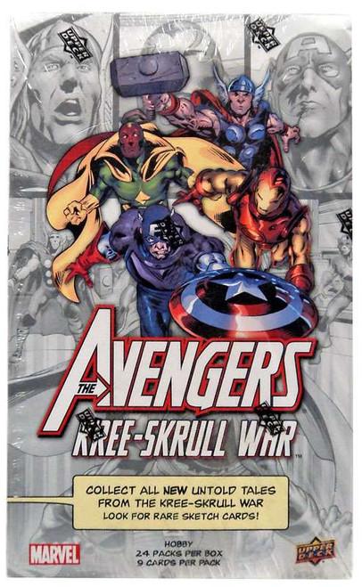 Marvel The Avengers Kree-Skrull War Trading Card HOBBY Box [24 Packs]