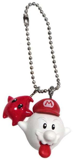 Super Mario Bros. Super Mario Galaxy Boo Mario & Red Luma Keychain
