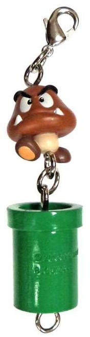 Super Mario Goomba & Warp Pipe Phone Danglers Charm Keychain