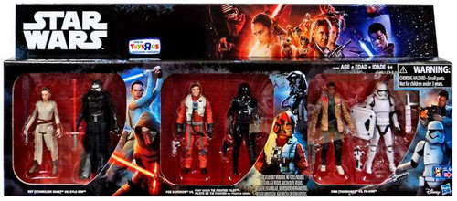 Star Wars The Force Awakens Rey vs Kylo Ren, Poe vs Tie Fighter Pilot & Finn vs FN-2199 Exclusive Action Figure 6-Pack