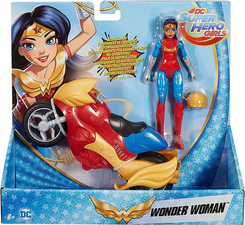 DC Super Hero Girls Wonder Woman & Motorcycle Action Figure & Vehicle