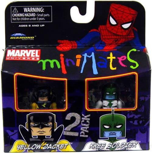 Marvel Universe Minimates Series 32 Yellow Jacket & Kree Soldier Minifigure 2-Pack
