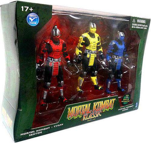 Mortal Kombat Klassic Cyrax, Smoke & Sektor Action Figure 3-Pack