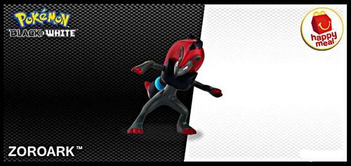 Pokemon Black & White Happy Meal Zoroark Action Figure [Loose]