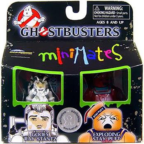 Ghostbusters Minimates Gooey Ray Stantz & Exploding Stay Puft Marshmallow Man Exclusive Minifigure 2-Pack