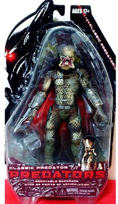 NECA Predators Classic Predator Action Figure [Unmasked, Damaged Package]