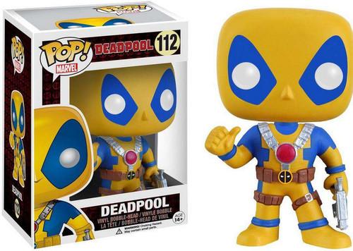 Funko POP! Marvel Deadpool Exclusive Vinyl Bobble Head [Yellow & Blue, Damaged Package]