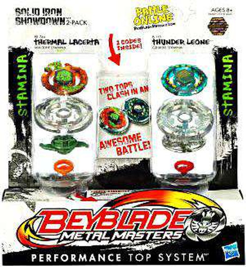 Beyblade Metal Masters Solid Iron Showdown 2-Pack BB74A [Damaged Package]