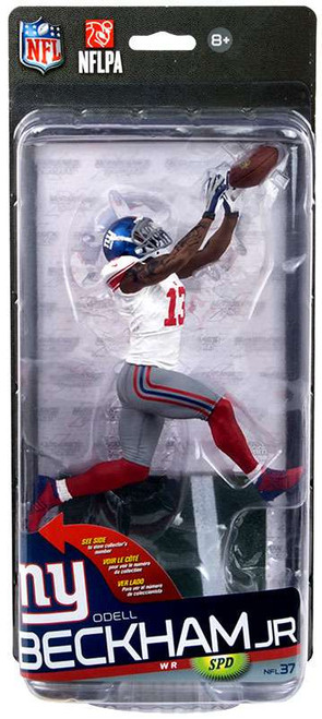 McFarlane Toys NFL New York Giants Sports Picks Series 37 Odell Beckham Jr. Action Figure [White Jersey, Grey pants, Damaged Package]