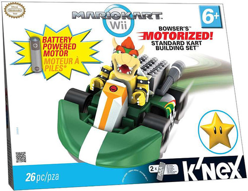 K'NEX Super Mario Mario Kart Wii Bowser's Standard Kart Set #38064 [Motorized, Damaged Package]