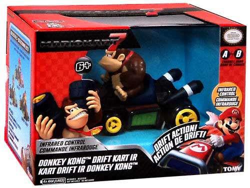 Super Mario Mario Kart 7 Drift Kart IR Donkey Kong R/C Car [Damaged Package]