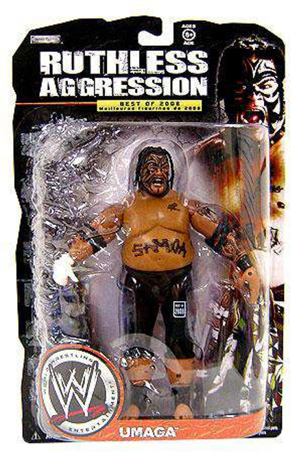 WWE Wrestling Ruthless Aggression Best of 2008 Series 1 Umaga Action Figure [Loose]