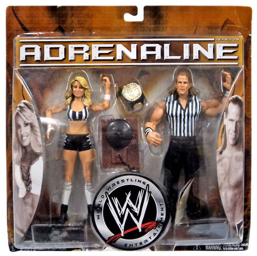 WWE Wrestling Adrenaline Series 20 Shawn Michaels & Trish Stratus Action Figure 2-Pack [Referee Gear, Damaged Package]