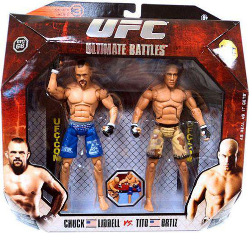 UFC Ultimate Battles Series 3 Tito Ortiz vs. Chuck Liddell Action Figure 2-Pack [UFC 66, Damaged Package]