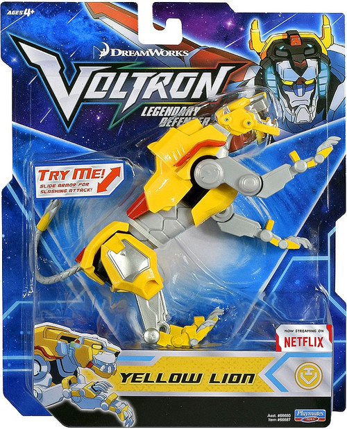 Voltron Legendary Defender Yellow Lion Basic Action Figure