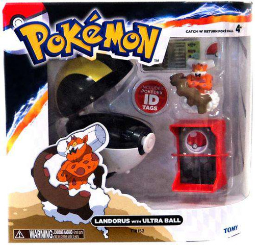 Pokemon Catch n Return Pokeball Landorus with Ultra Ball Figure Set [Damaged Package]