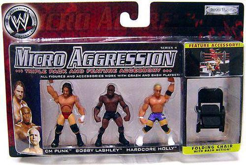 WWE Wrestling Micro Aggression Series 4 Mini Figure 3-Pack [Loose]