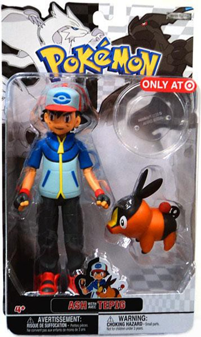 Pokemon Black & White Trainer Figures Ash with Tepig Exclusive Action Figure [Damaged Package]