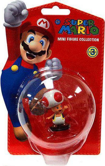 Super Mario Bros Series 3 Toad 2-Inch Vinyl Mini Figure [Damaged Package]