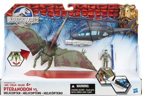Jurassic World Pteranodon vs Helicopter Capture Vehicle [Damaged Package]