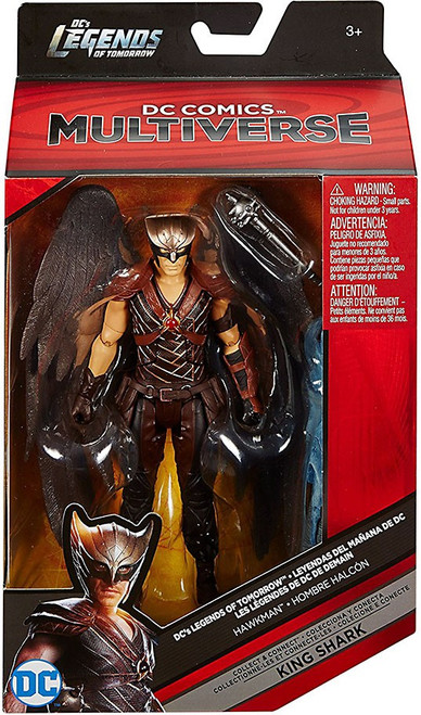 DC Legends of Tomorrow Multiverse King Shark Series Hawkman Action Figure