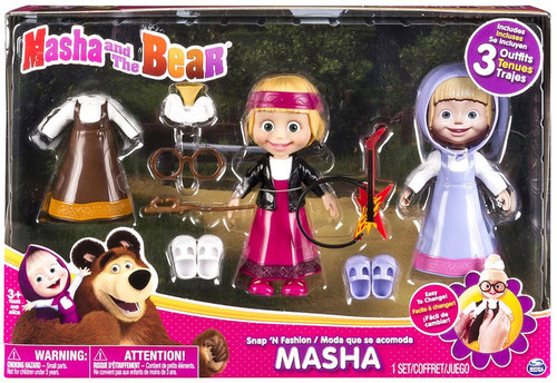 Masha and the Bear Snap 'N Fashion Masha Exclusive Playset [Style 2]